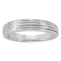 250 NEW! Cathedral wedding band set