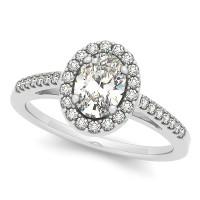 OVAL HALO; DIAMOND SHANK
