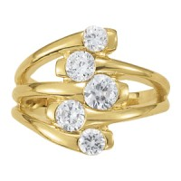 NEW! 1 CTTW 5-ST  R-HAND RING