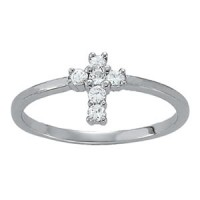 NEW! Cross 1/5 ct tw complete ring